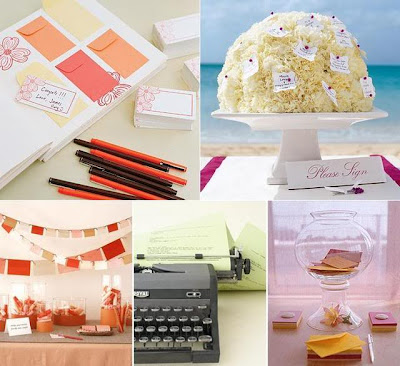 Check out these other great guestbook ideas Via Green Wedding Shoes