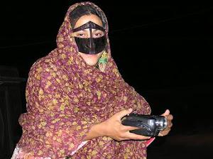 Mehrnaz con el burqa.