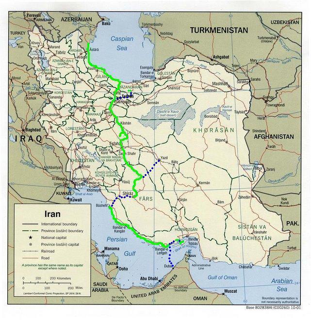 Mapa del recorrido.