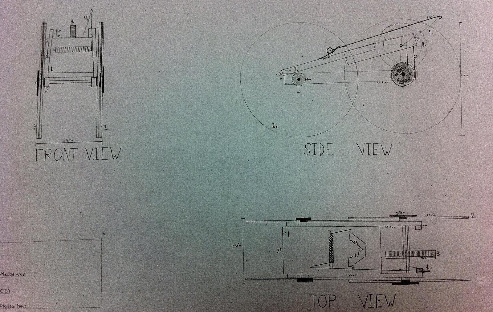Seminole Ridge SECME: Technical Drawing for Mousetrap Vehicle