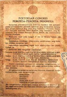putusan kongres pemuda indonesia rumusan sumpah pemuda rumusan itu