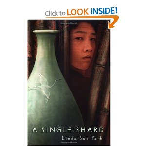 review the single shard A shard is a broken piece of pottery, and the boy and his mentor are broken shards of people however, both of them retain enough of the design to continue their lives this is a wonderful tale of an abandoned orphan growing up with a cast aside crippled man in ancient korea.