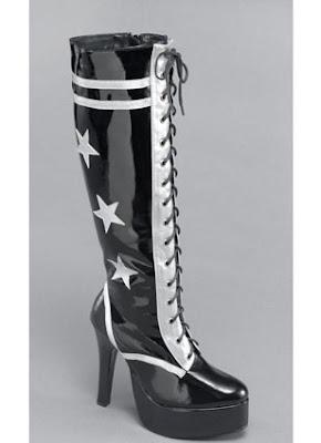 glam rock platform boots stars
