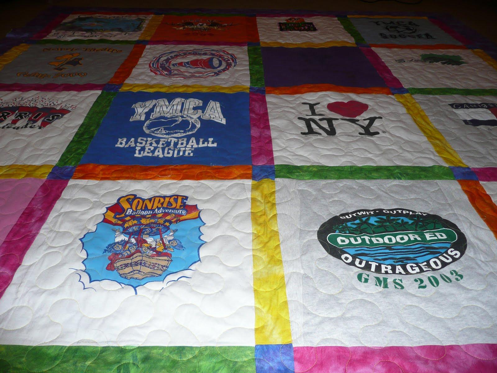 T Shirt Quilting Patterns : Acorn Ridge Quilting: Alicia s T-shirt Quilt