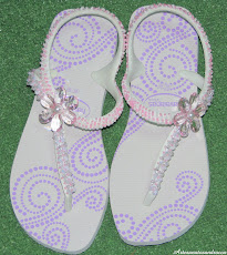 Chinelo havaiana flash bordado com missangas