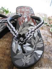 Chinelo ipanema bordado com missangas
