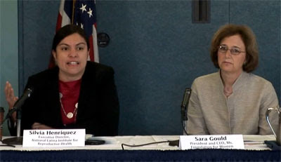 From Left: Silvia Henriquez, Executive Director, National Latina Institute for Reproductive Health; Sara K. Gould, President and CEO, Ms. Foundation for Women