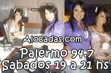 ALOCADAS.COM: Palermo 94.7 - Sabados: 19 a 21 hs