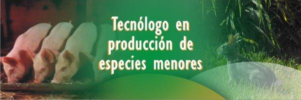 produccion de especies menores