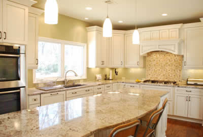 Pictures of Kitchens Traditional Off-White Antique Kitchen