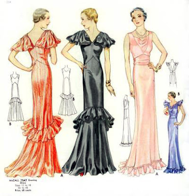 1930s Leading Lady Evening Gown - Vintage Sewing and Dress