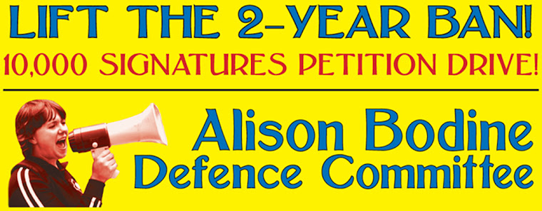 Alison Bodine Speaks Out!