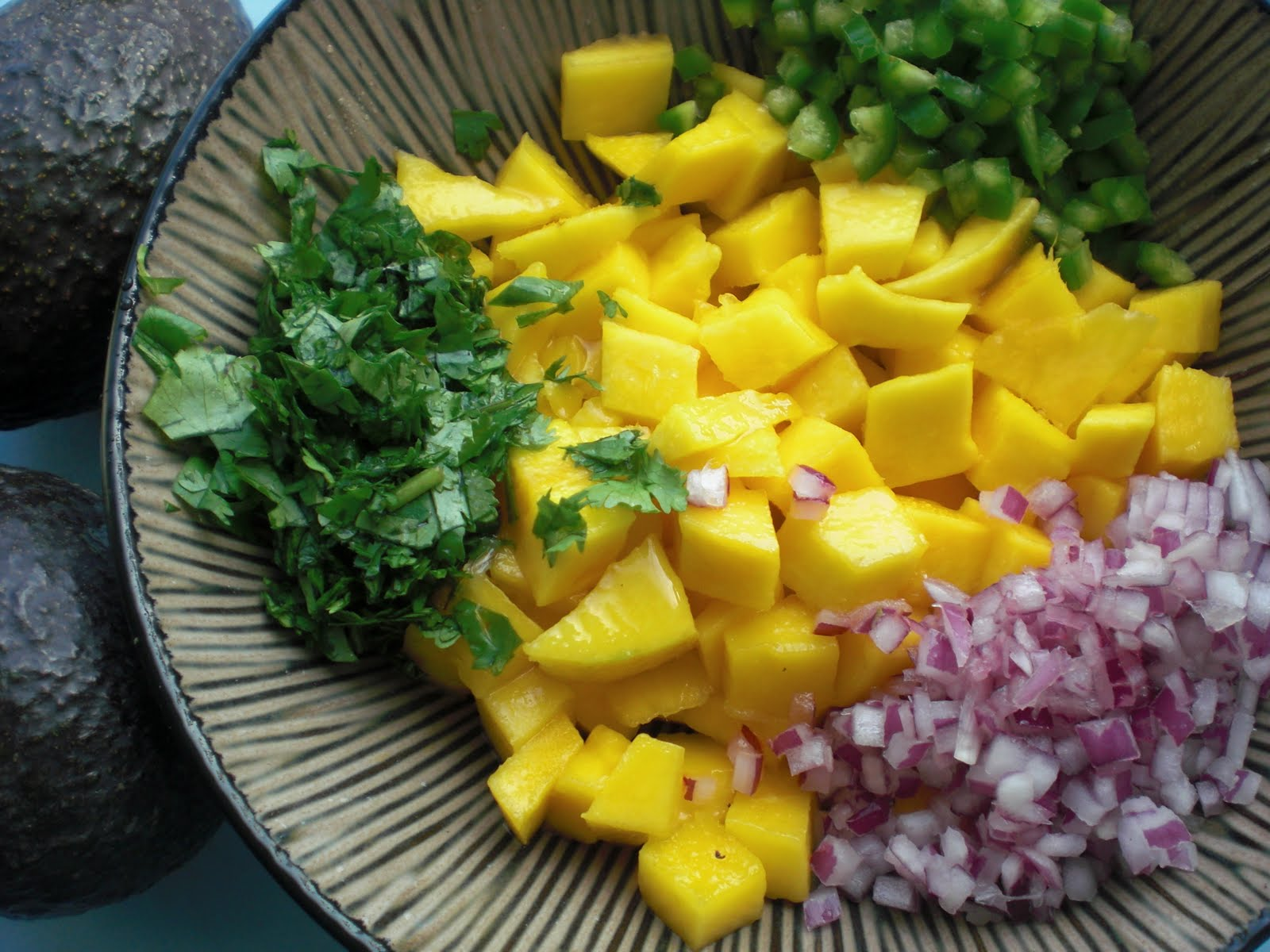 ... zucchini, sweet corn, black beans, spices, cilantro, and lime juice