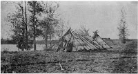 Ojibway encampment along the Red River of the North