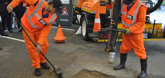 Pothole Repair using the patchmaster - YouTube