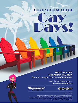 Win a fabulous trip to Gay Days Orlando 2009 from Esurance.