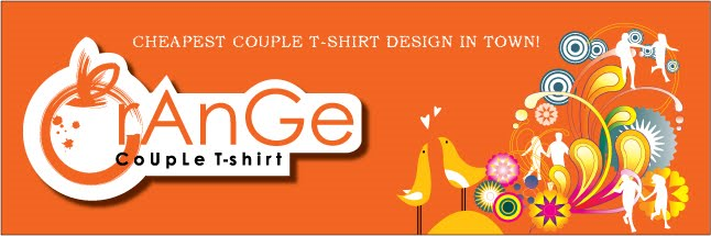 Orange Couple T-shirt