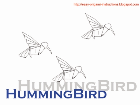 Here Is Origami Instructions To Fold A Humming Bird It Easy Follow