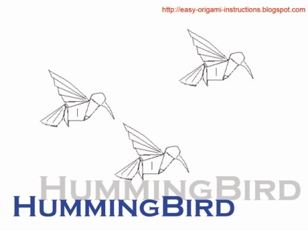 Origami Hummingbird Instructions Video