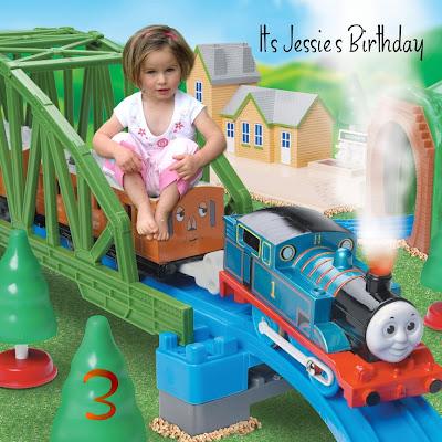 Thomas the train birthday cards