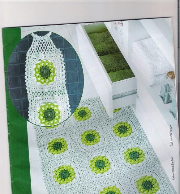 Jogo De Banheiro Verde E Branco : Sonho em croche cont do jogo de banheiro verde e