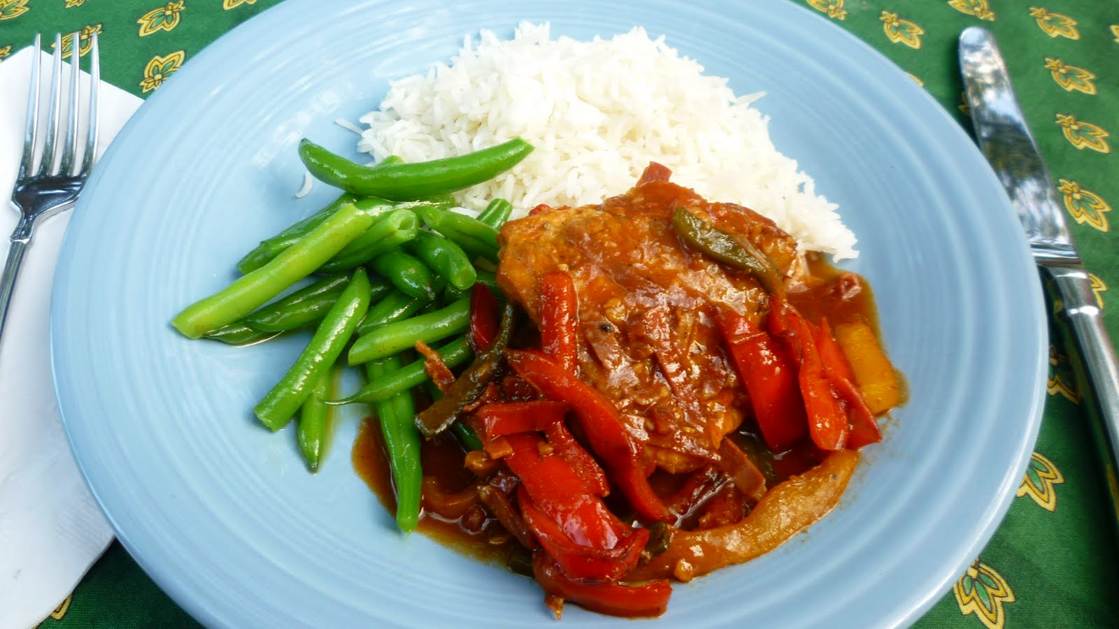 ... Poulet Basquaise—Basque-Style Chicken with Peppers, Ham & Tomatoes