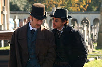 Sherlock Holmes (Robert Downey Junior) and Dr. Watson (Jude Law) - Sherlock Holmes Movie