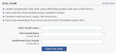 Tips Mengubah Password Facebook