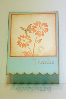 scallop notecard in soft sky