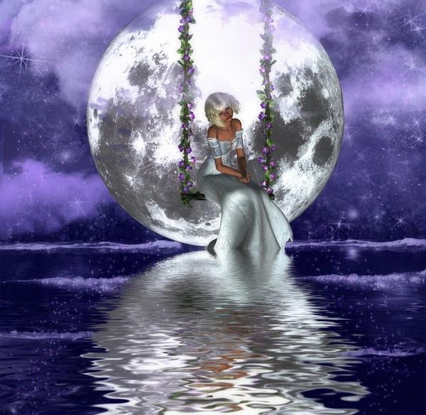 Marzenie senne przy pełni księżyca, na przekór temu co niesie życie