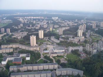 oglądaliśmy panoramę Wilna z wieży telewizyjnej z wyskości 25 piętra