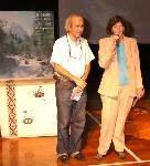 La supervisora Encarnación Madrid junto al Maestro Hugo Castro