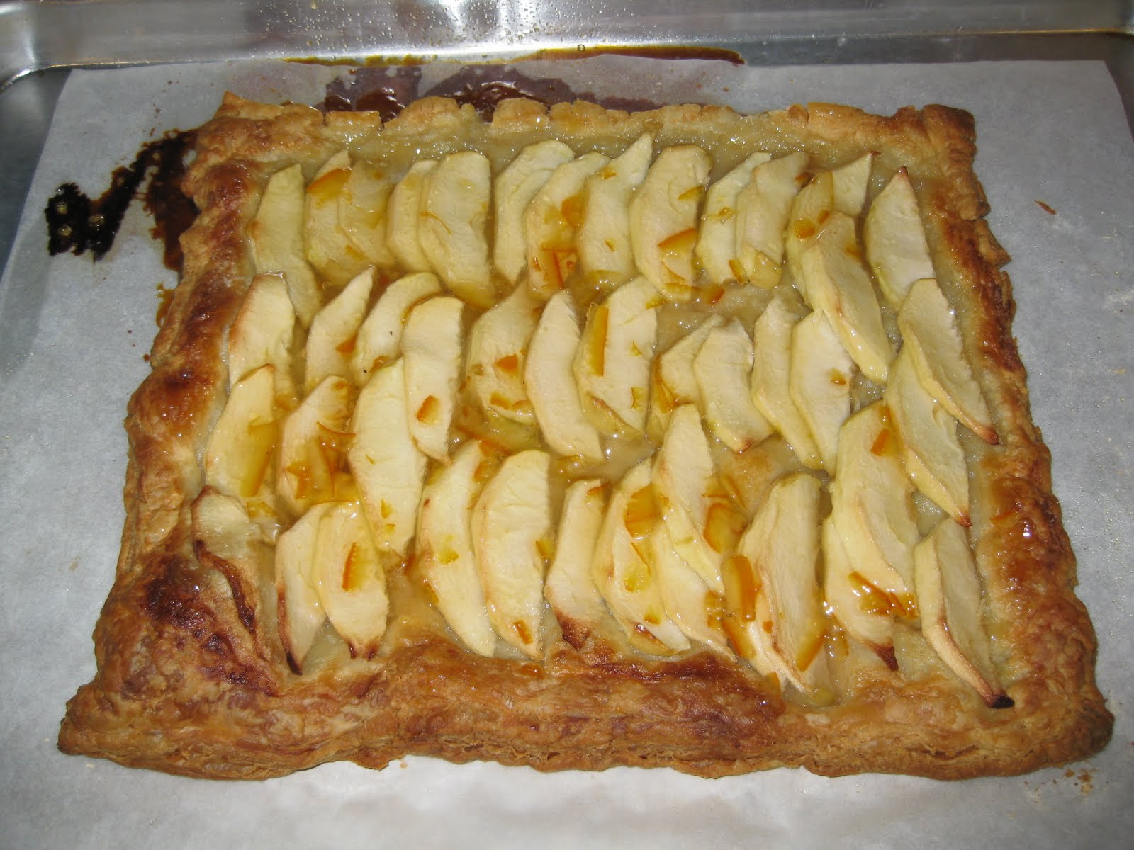 Apple Tart with Orange-Marsala Glaze