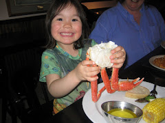 Esther with Snowcrab at Phyllis's on 5th