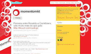 Momento Marketing e Comunicação cria perfil no Twitter. Blog Publiloucos.
