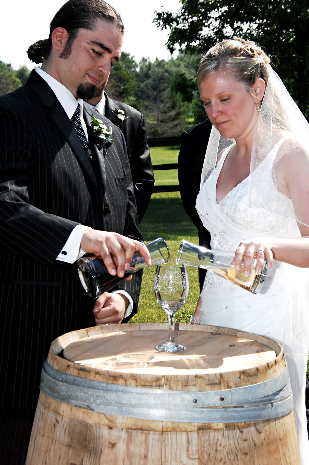 The Wine Ceremony Involves Both Bride And Groom Mixing Two Different Wines Then Drinking From Glass One Is Sweet