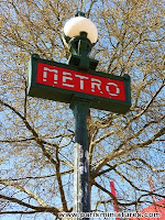 Paris Metro Station Sign
