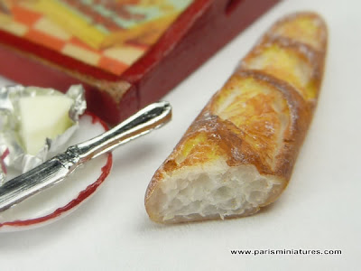 miniature French baguette - Paris Miniatures - Emmaflam and Miniman