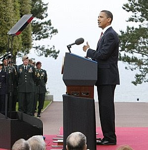 Barack Obama at D-Day commemoration June 2009