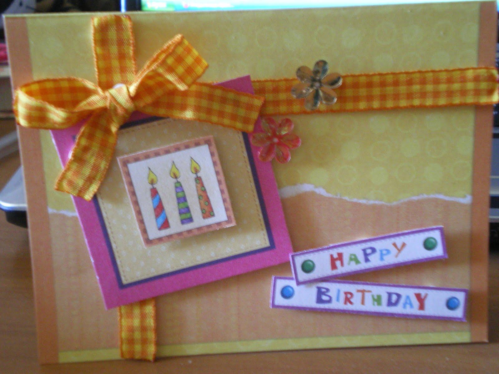 Открытка подруге с днем рождения самодельная