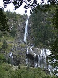"""la cascada d""""Ars a Aulús a l'Arieja (agost del 1883)"""