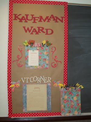 Relief Society Bulletin Board