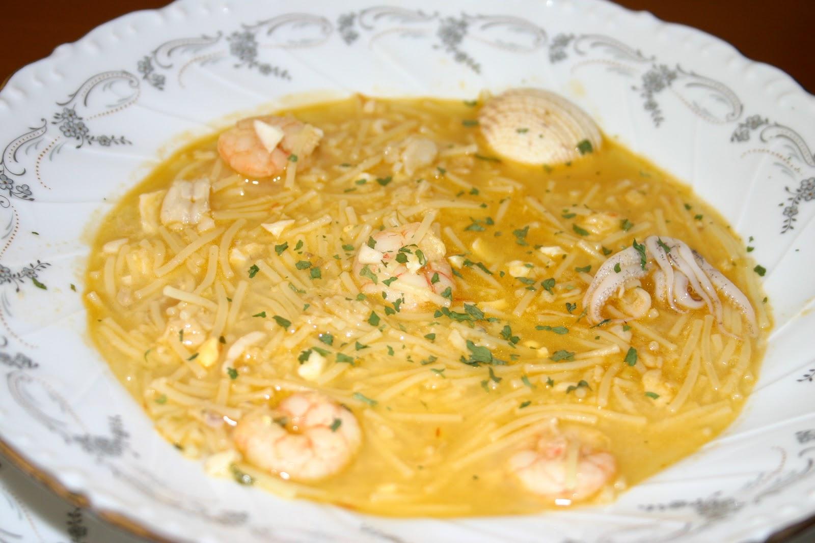 Sue o con ser cocinera sopa de pescado y marisco - Sopa de marisco y pescado ...