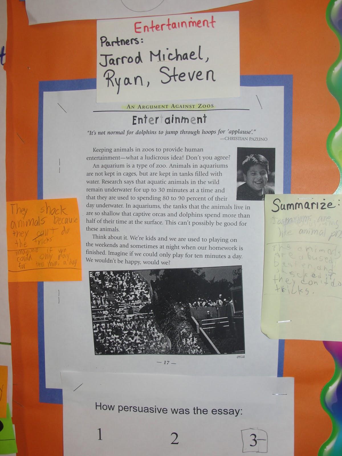 persuasive essay against zoos