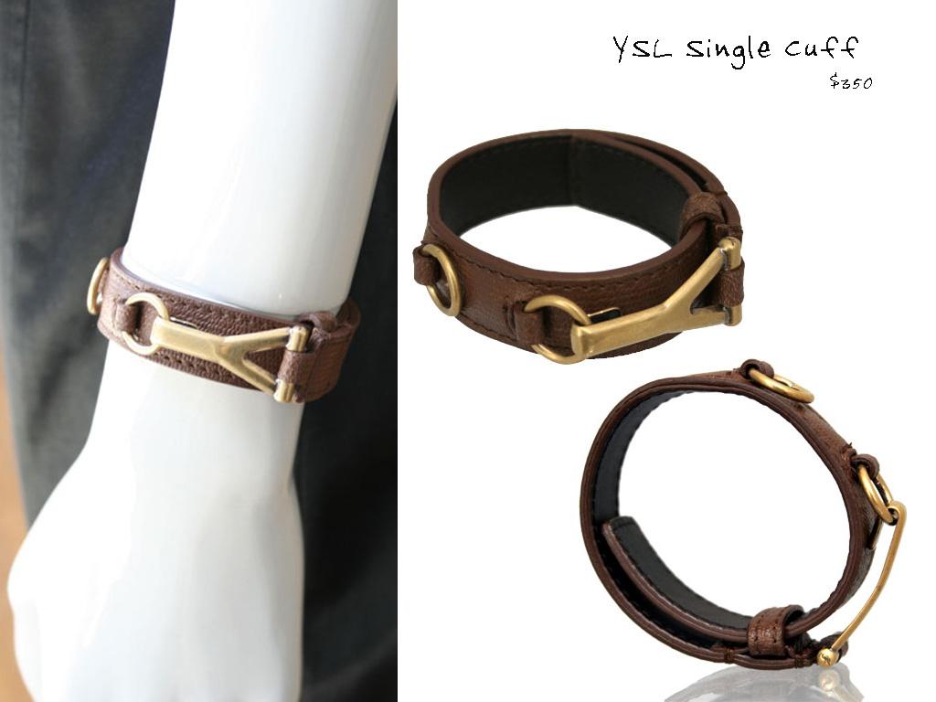 dc1492927b CULTSTATUS  Yves Saint Laurent - Leather Cuffs