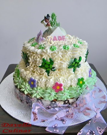 Gâteau d'anniversaire La princesse et la grenouille