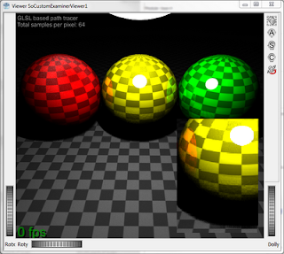 Naive Path Tracing with 64 samples per pixel