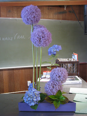 Soho 39s purple arrangement Hydrangea and Allium