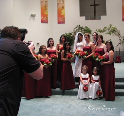 Orange and Burgundy Wedding