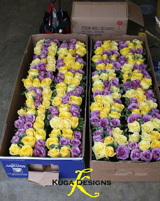Kuga designs yellow and purple bride these babies are 24 cube centerpieces lined ready to go into the back of the pacifica junglespirit Images
